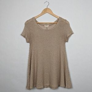 Altar'd State Tan/Cream Knit Top/Tunic Boho